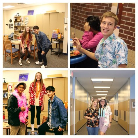 Journalism students show support by participating in Red Ribbon Week
