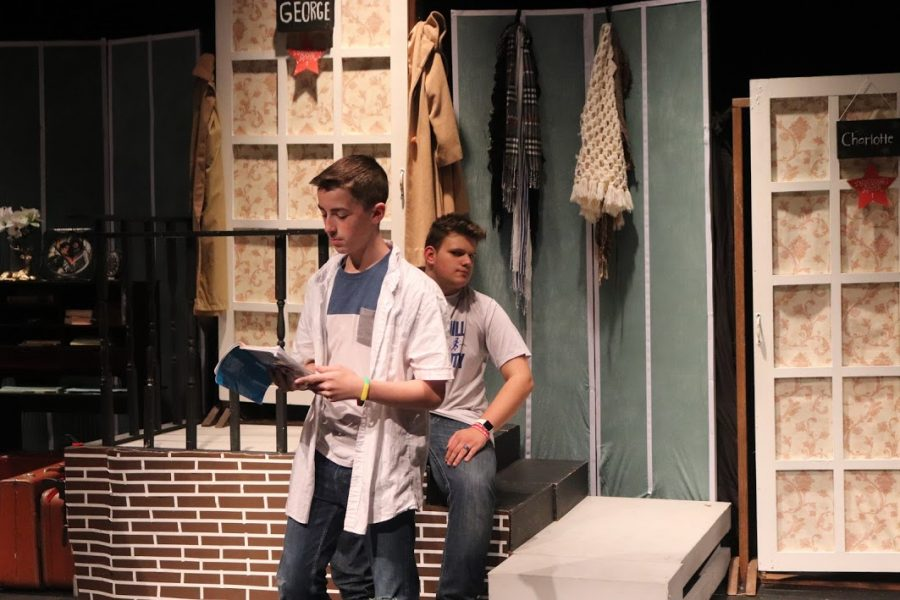 Jacob Donohue also performs on stage as well as being a stage manager