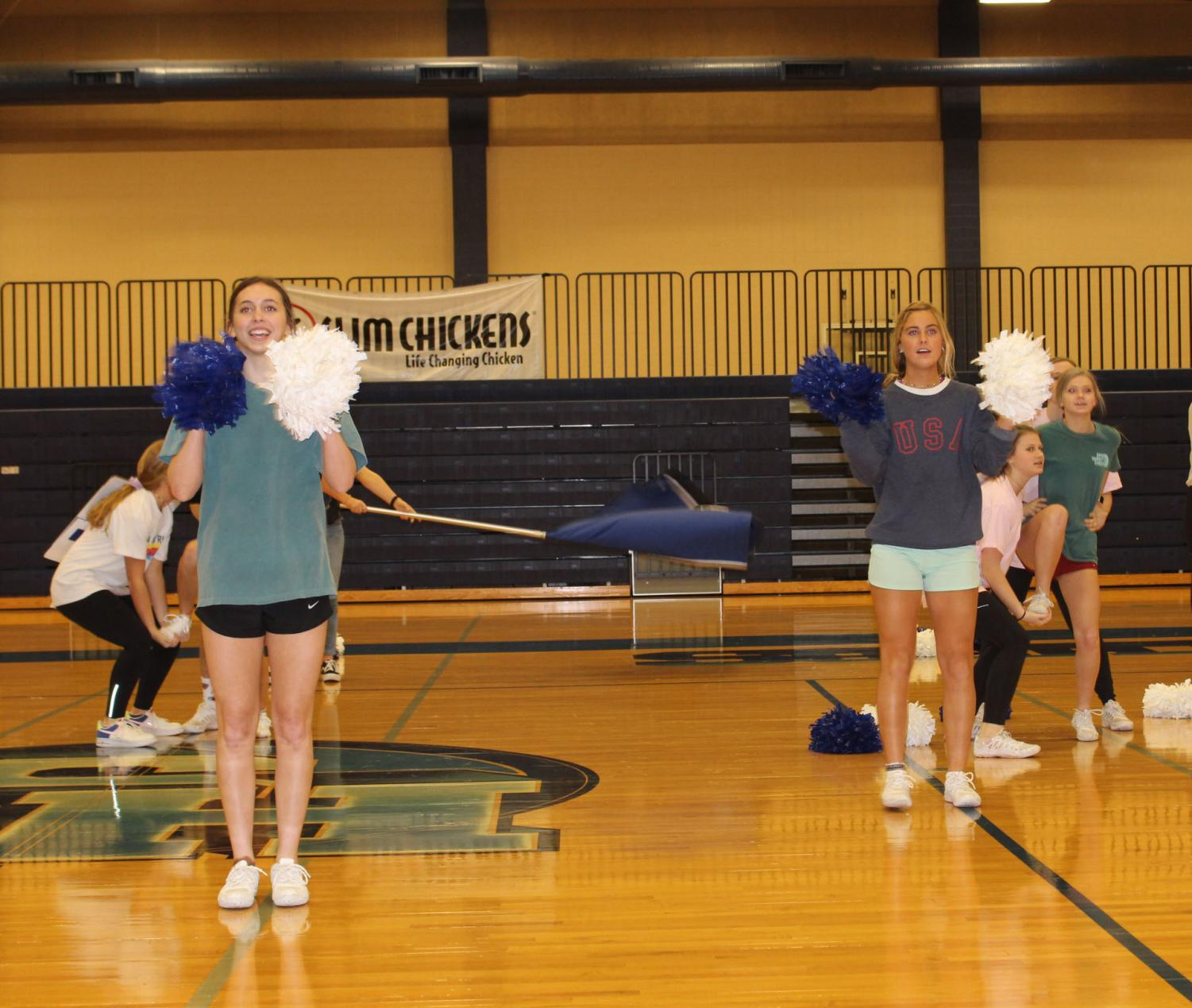 The squad worked night and day to take on the State Cheer Challenge. Students were able to watch via Facebook Live as the girls placed in the top half of the competition.