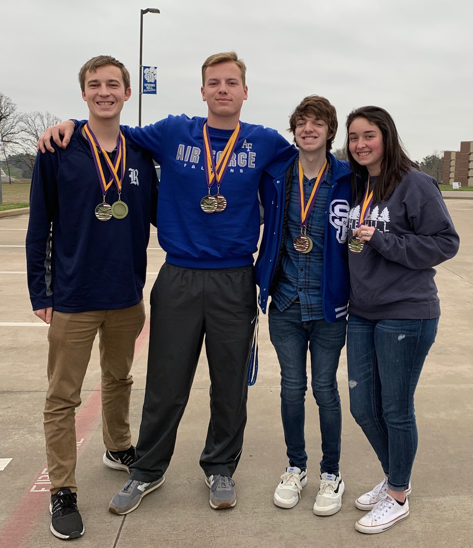 Caron, Wallace, Hickerson and Robinett compete in UIL history events as well as citizens bee