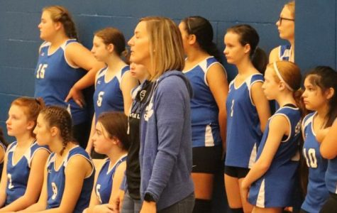 Coach Hattier watches intently at Saturday, September 7, SH Tournament