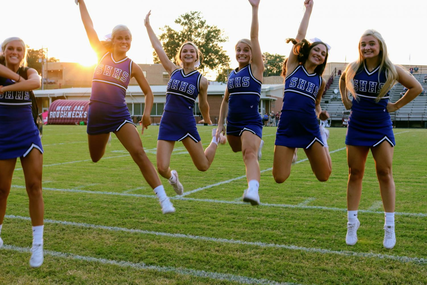 The Cheerleader Squad Cheers on Their Panther Team on 9/13