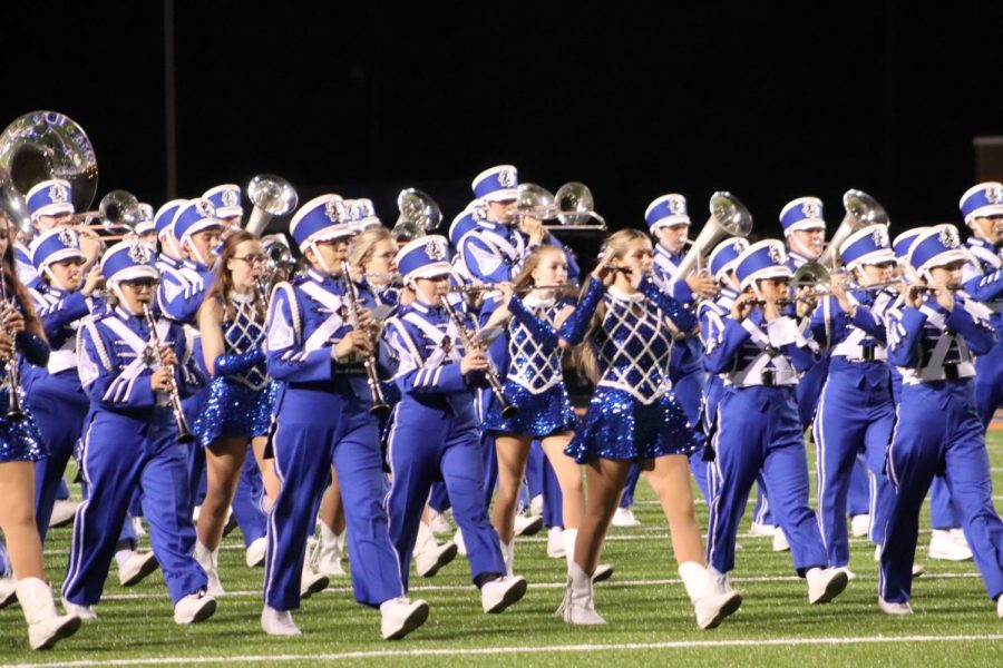 8th grade band joins THE BLUE BRIGADE