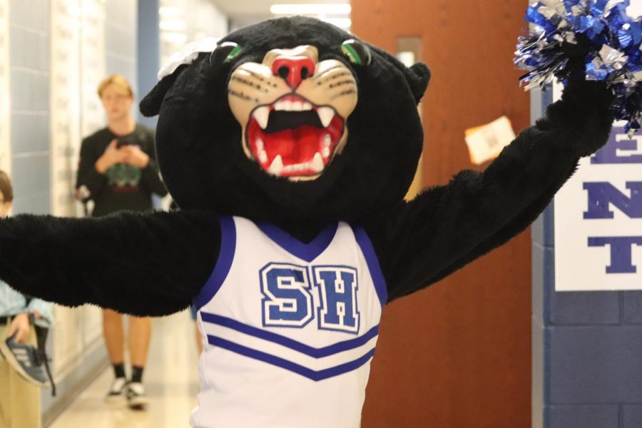 The+Panther+mascot+roars+with+spirit+before+the+Homecoming+game