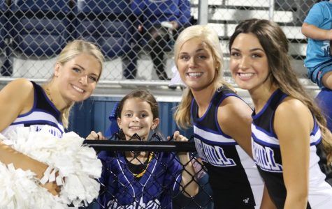 Panther Cheer Squad and Little Panthers Cheer on their Team at the Homecoming Game 9/27