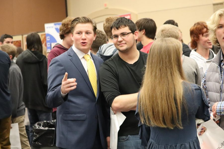 Ethan Foster is dressed for success at the annual Expo.