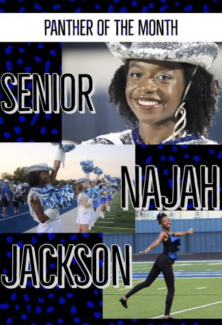 Graphic of Panther of the Month: Najah Jackson